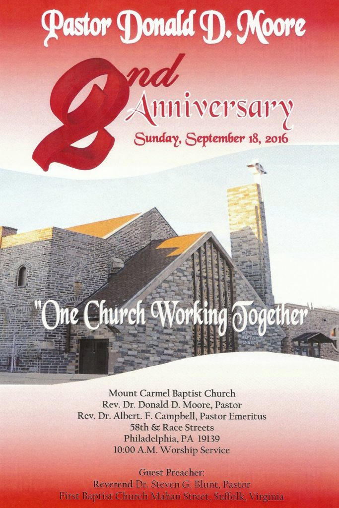 Pastor Moore's 2nd